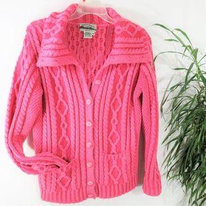 100% Merino Wool Irish Made Cable Knit Cardigan